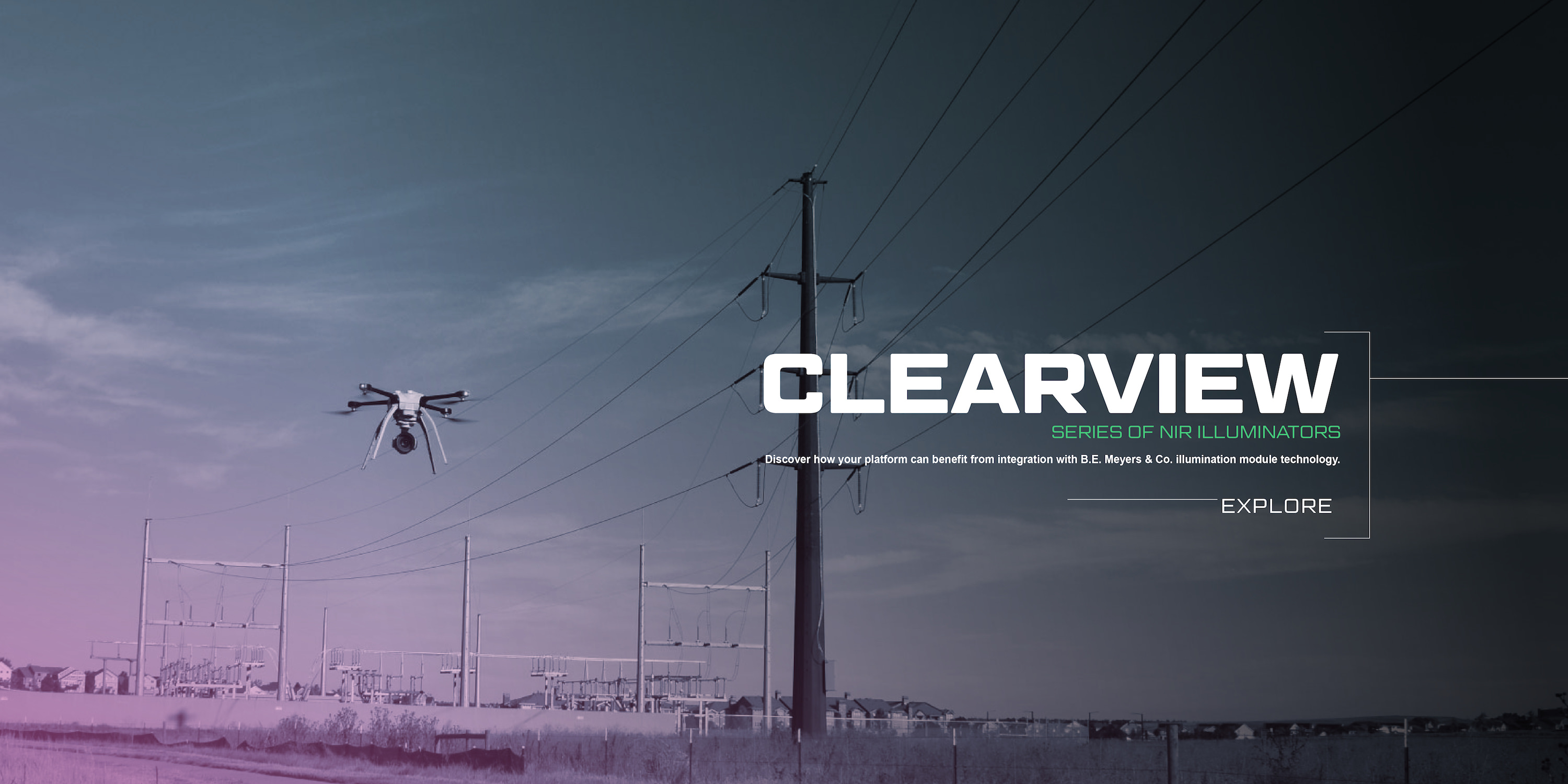 Clearview series laser component banner